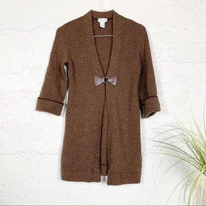 Soft Surroundings Brown Cardigan